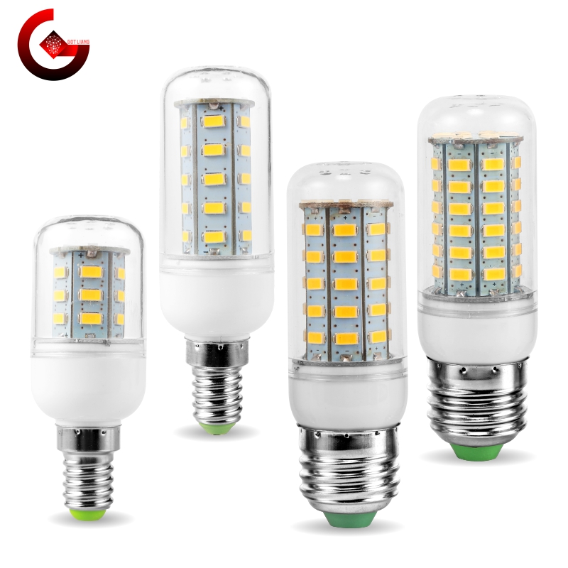 LED Corn Bulb E27 E14 Light Bulb 24 36 48 56 69 72LEDs SMD5730 220V LED Lamp Chandelier Candle Light For Home Decoration Lamps
