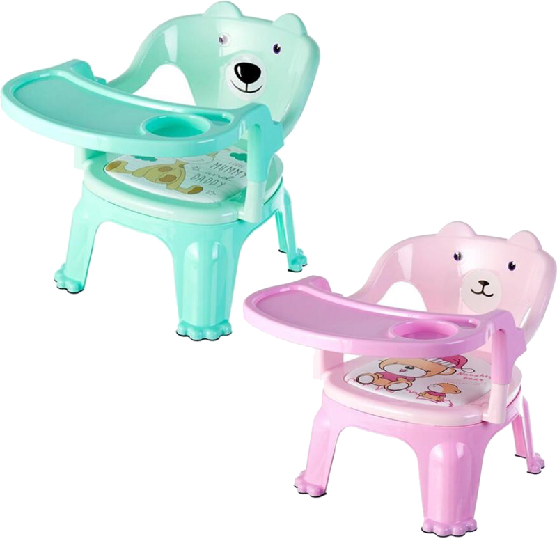 Children's Dining Chair With Plate Baby Eating Table Baby Chair Dining Table Back Call Called Chair Baby Plastic Stool