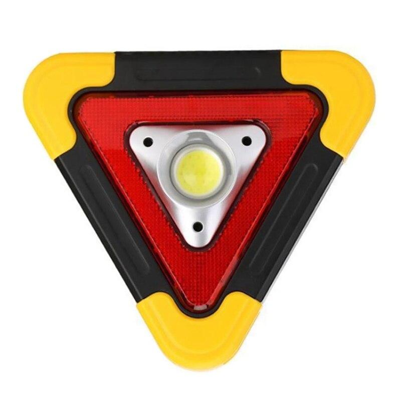Promotion! Multi-Function Solar Charging LED Work Light Triple-cornered Warning Emergency Light Portable Floodlight Spotlight Ou