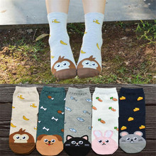 Recommend Cartoon  Women 5pairs/lot Autumn-winter Funny Novelty Comfortable Ladies And Womens Cute Animal