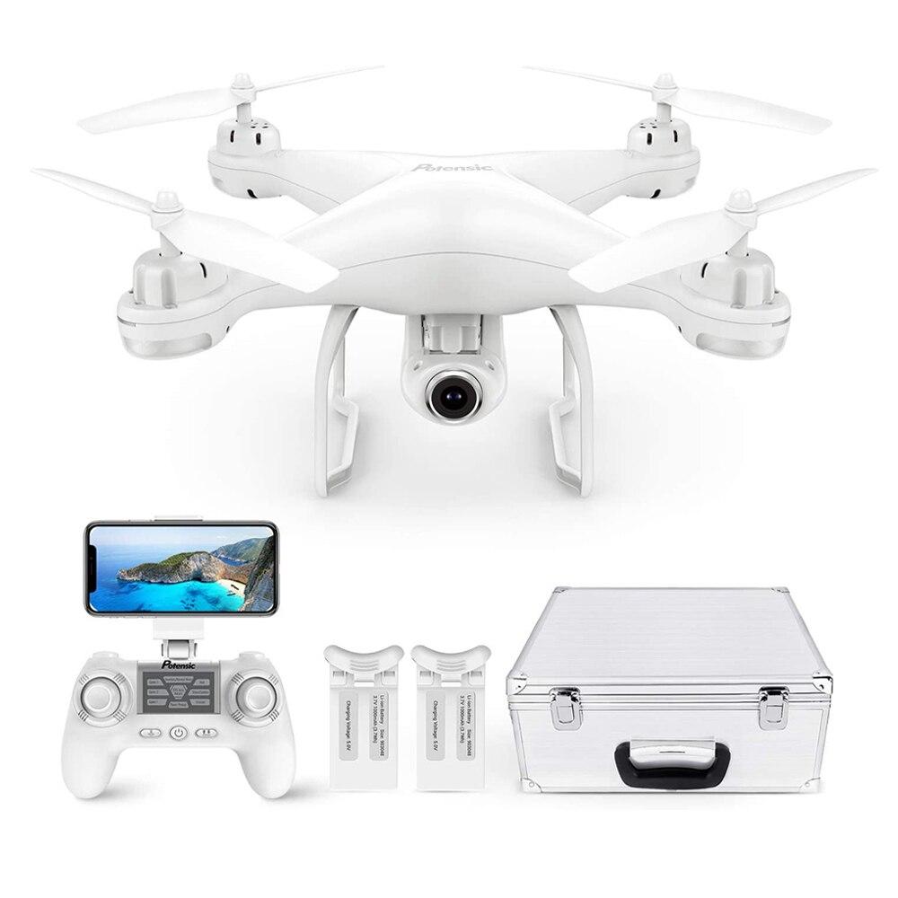 Квадрокоптер Potensic с GPS и HD-камерой 1080P для взрослых, Ру FPV, Wi-Fi, живое видео, следуйте за мной, вертолеты, игрушки с дистанционным управлением