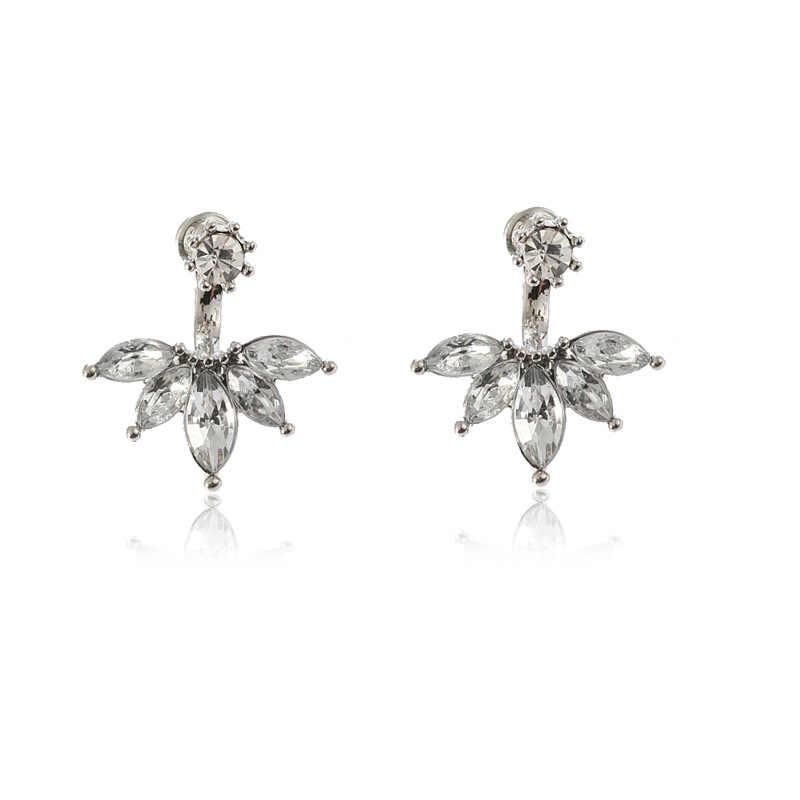 קוריאני תכשיטי זירקון פרל לב קריסטל פרח מלאך כנפי גיאומטריה Stud עגילים לנשים הצהרת אוזן תכשיטים סיטונאי