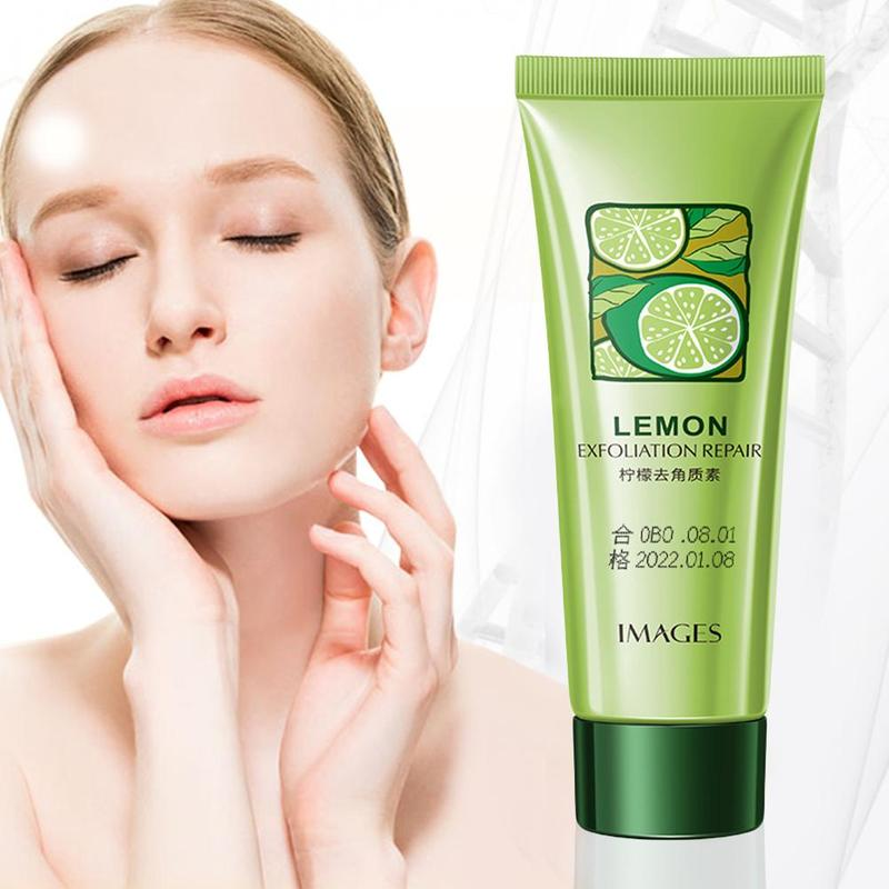 Lemon Scrub Exfoliating Repair Primer Face Scrub Remove Dead Skin Blackhead Pimples Face Exfoliating Gel Skin Cleansing Cream