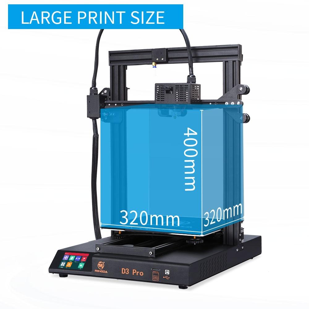 2020 3D Printer Kit 3D Printers Metal 3D Printer 320*320*400mm FDM TMC2208 Direct Extruder Mingda D3 Pro Vs CT 6/10 Ender 3 Pro|3D Printers| -…