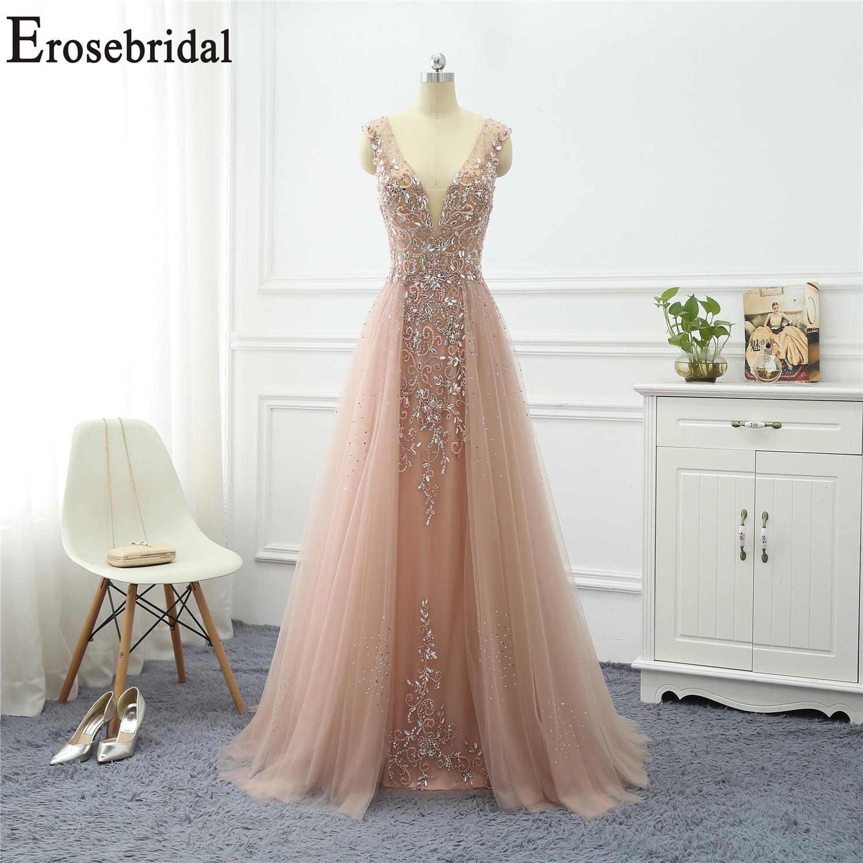 Erosebridal Beaded   Dress   Elegant   Evening     Dress   Long 2019 Sleeveless Long Formal   Dress     Evening   Gown for Women