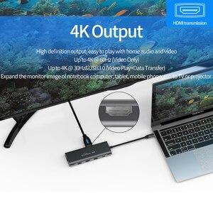 Image 2 - LU USB C Type C 3.1 répartiteur 3 ports USB C HUB vers Multi USB 3.0 adaptateur HDMI pour MacBook Pro USB C HUB ordinateur portable Station daccueil
