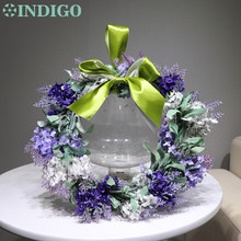 Door Hunging Wreaths Diameter 28cm Purple  Lavender RomanticDecorative Silk Flower Wedding Christmas Free Shipping