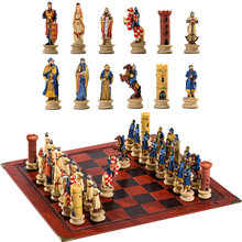 Character Chess Crusade Character Theme Puzzle Game Toy Luxury Knight  Hand-Painted Party Game Gift Collection