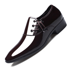 Dress Shoes Men Oxford Patent Leather Men's Dress Shoes Business Shoes Men Oxford Leather Zapatos De Hombre De Vestir Formal wedding patent leather shoes men casual flat shoes mens brogue formal dress shoes oxford chaussure homme zapatos de hombre