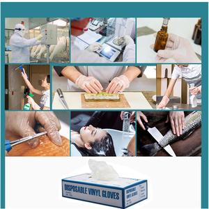 Image 3 - 100 PCS Transparent Disposable PVC Gloves Dishwashing/Kitchen/Latex/Rubber/Garden Gloves Universal For Home Cleaning