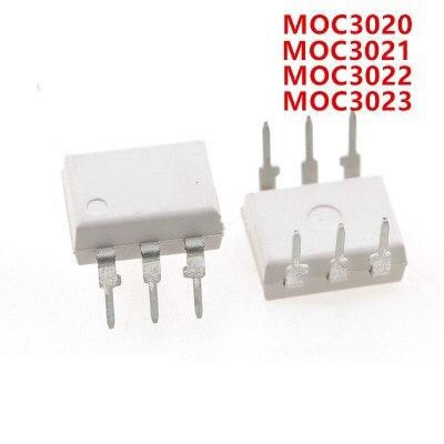 10pcs MOC3020 MOC3021 MOC3022 MOC3023 MOC3041 MOC3043 MOC3052 MOC3061 MOC3062 MOC3063 DIP6 DIP NEW