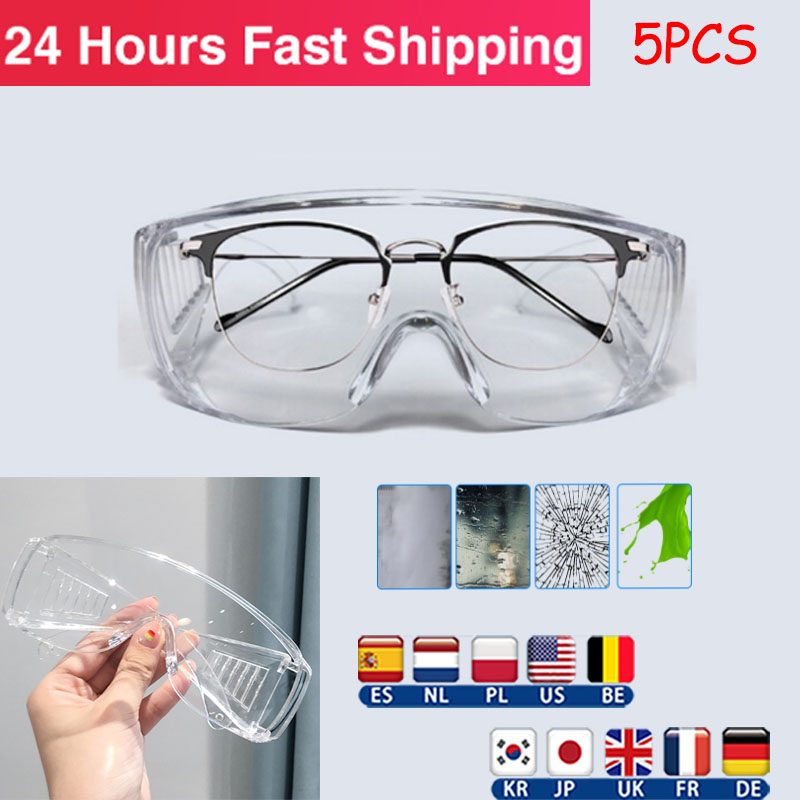 Transparent Goggles Protective Goggles Unisex Safety Goggles Anti-fog Seal Lab Work Protective Goggles Anti Splash Googles