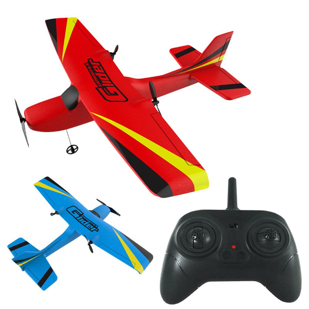 2.4G 2CH Remote Control Plane EPP Foam Glider Airplane Gyro Wingspan Kids Toy image