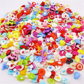 100 шт., маленькие пластиковые пуговицы для рукоделия