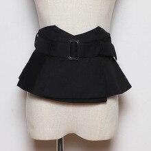 New women black cloth wide belt Corset Belt Ladies Fashion R