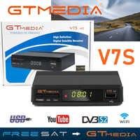 Gran oferta de Receptor DVB S2 Gtmedia V7S HD soporta 3 años Europa Cline para España FTA Receptor de TV satelital Freesat V7 decodificador HD