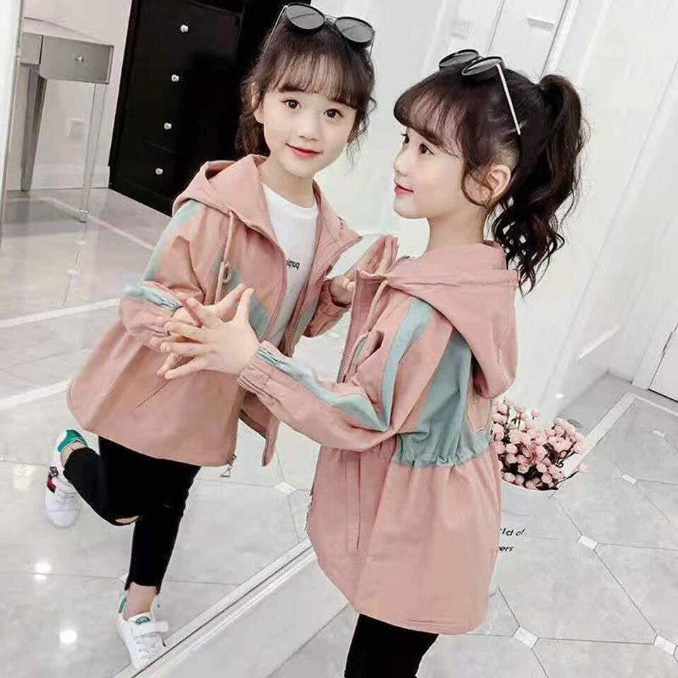 2019 новые осенние и зимние куртки для девочек, для детей 3 12 лет, с капюшоном, симпатичная ветровка, детские пальто, верхняя одежда для девочек|Куртки и пальто| | АлиЭкспресс