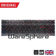 95% new and Original UK Red Backlit Keyboard For MSI GT72 GL62 GV62 GS60 GS70 6QE V143422AK 09JM0030 V143422KK1 new uk laptop keyboard for for msi steelseries gt72 gs60 gs70 ws60 ge62 ge72 keyboard backlit