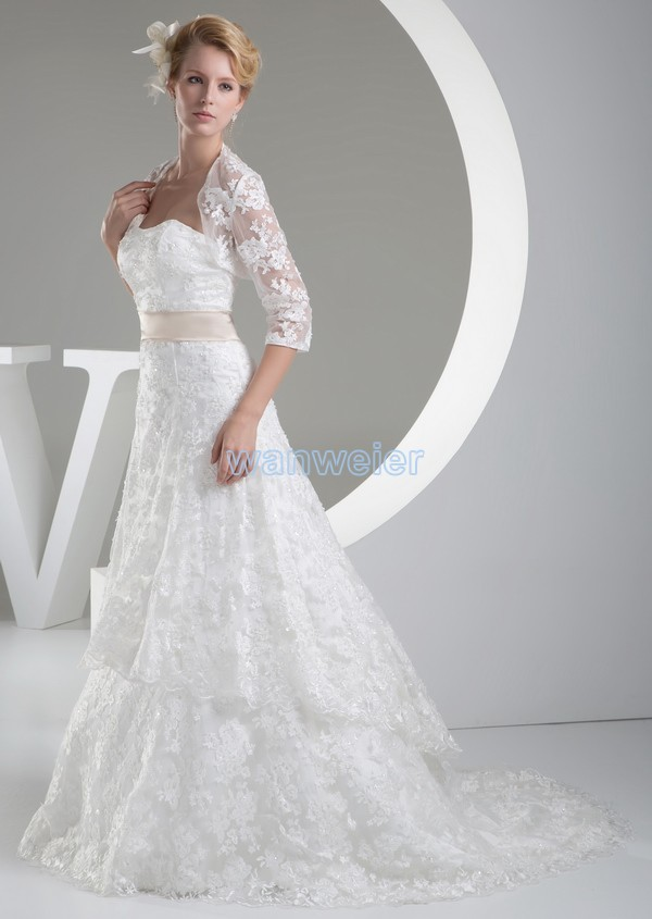 Free Shipping 2016 Sari Design Zipper Vintage Custom Size/color Wedding Dress Sash Modest Wedding Gowns Long Sleeves With Jacket