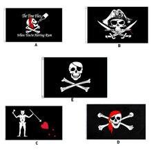 Crânio pirata bandeira barba negra edward ensinar jolly roger para o barco de alta qualidade 3x5ft publicidade corante