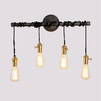 American Vintage Restaurant Coffee Shop Industrial-Style Lamps and Lanterns Wall Iron Art Pipe Wall Lamp E27  Nordic Wall Lamp