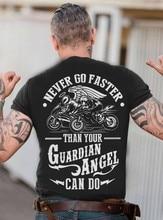 Никогда не быстрее, чем ваша Байкерская футболка с ангелом-хранителем