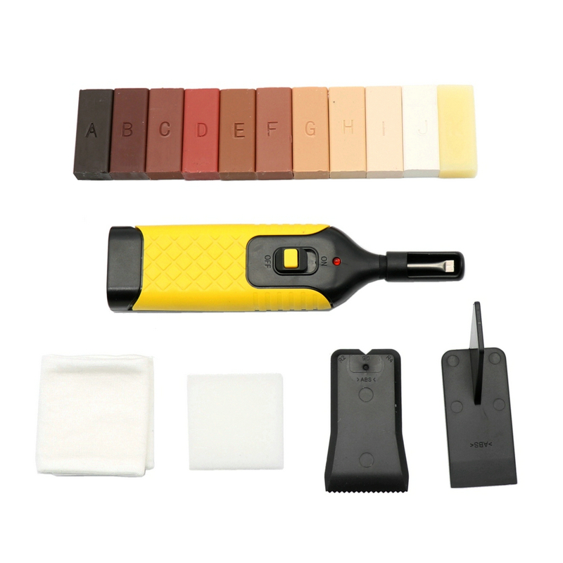 1 Set Laminate Floor Repair Kit 11 Color Wax Blocks For Repair Damaged Flooring Kitchen Worktops