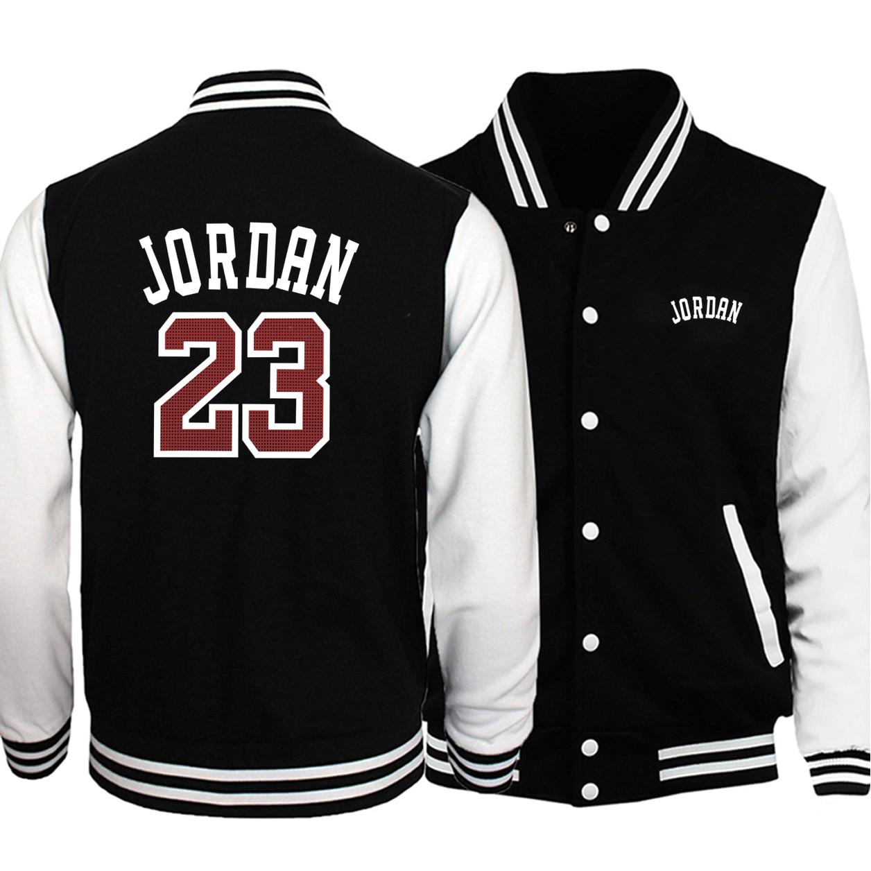 2019 Hot Sale Men Baseball Uniform Sportswear Autumn Bomber Jacket Jordan 23 Print Tracksuit Hip Hop Men Coats Casual Streetwear