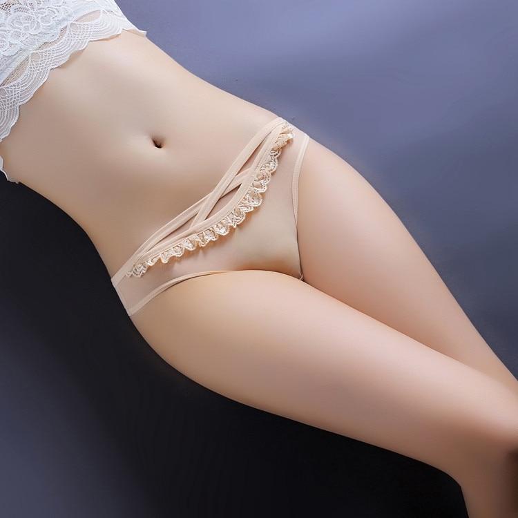 Gauze Lace Woman Transparent Lace Ventilation Sexy Lingerie Thongs G-string Underwear Panties Briefs Ladies T-back 1pcs SF5011