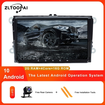 ZLTOOPAI IPS Car Multimedia Player Android 10 Auto Radio For Skoda Seat Volkswagen VW Passat B7 POLO GOLF 5 6 Stereo GPS image