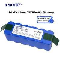 Sparkole 5,2 Ah 14,4 V Batterie Li-Ion Akku für irobot Roomba 500 600 700 800 Serie 510 530 555 620 650 760 770 780 790 870 880