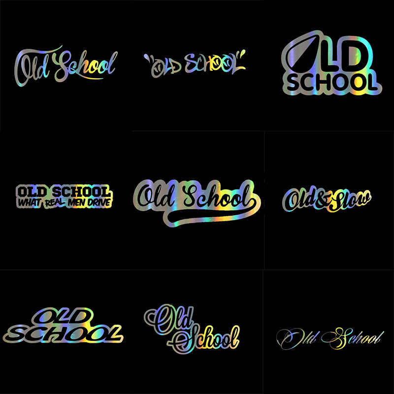 Auto Sticker 3D Oude School Sticker Op Auto Grappige Stickers En Decals Vinyl Decor Auto Styling