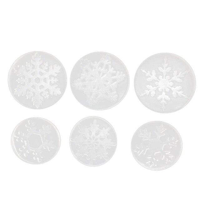 Moules de coulée de bijoux ELEG-flocon de neige (paquet de 6), Kit de moule en Silicone, moules dartisanat en résine liquide