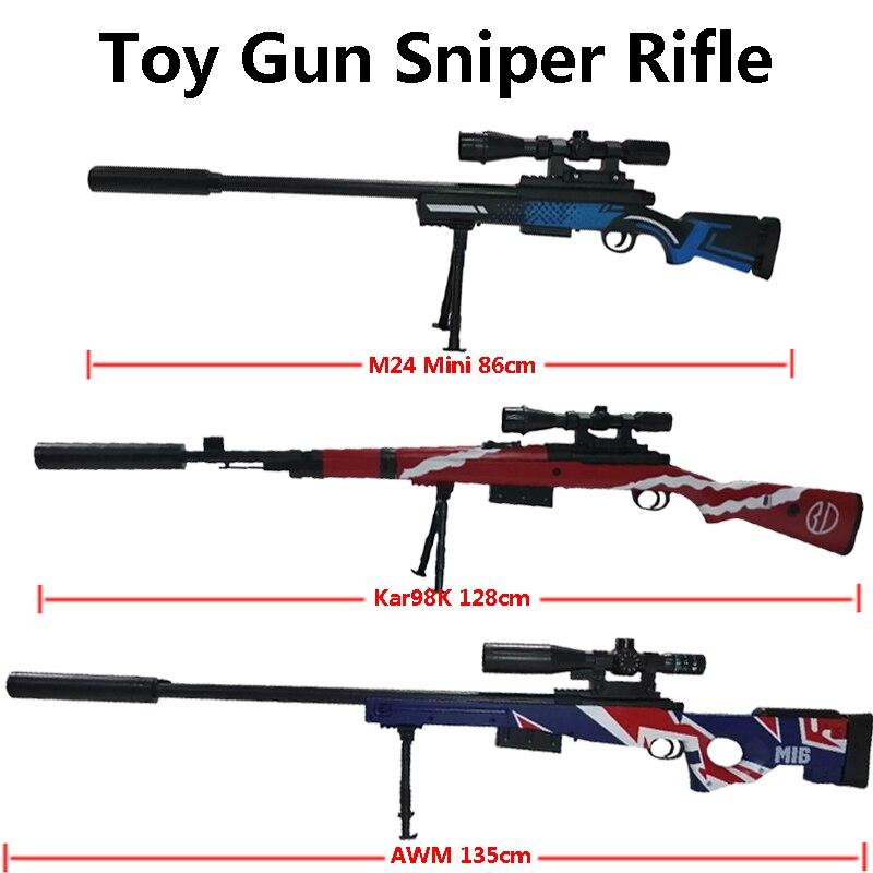 Fusil de Sniper sécurité balles d'eau tir jouet pistolet modèle militaire CS jeux indolore en plein air enfants arme jouet Simulatio pistolets cadeaux