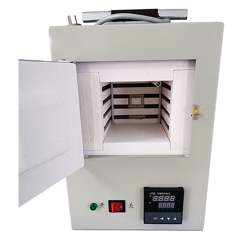 Ceramic Fiber Muffle Furnace Enclosed Small Electric Furnace Integrated Program Control High Temperature Furnace 1.5kw