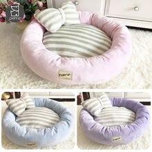 Круглая кровать для собак корзина кошек супер мягкая домашних