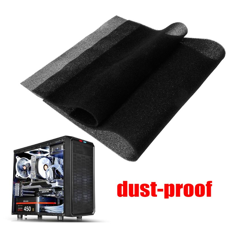 500x400x3/5MM Computer Filter Mesh PC Case Fan Cooler Dustproof Cover Sponge