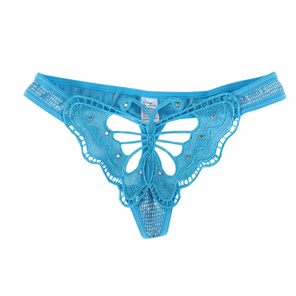 New Women Lace Thongs Sexy Hollow Out Butterfly Embroidery G-string Panties Lingerie T-back Lady Underwear