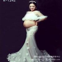 2017 Exhibition New Style Studio Photography Photo Shoot Photo Pregnant Women Clothing Mommy Taste Clothing Princess Dress Art P