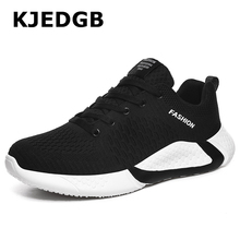KJEDGB Mens Shoes Flyknit Breathable Outdoor Sneakers Shoes Light Big Size 38-46 Tenis Masculino Adulto Support Dropshipping