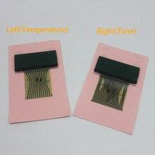 Zestaw wskaźników ekranu samochodu wyświetlacz Vdo Lcd lewy (temperatura) + prawy (czas) dla mercedesa W202 W208 W210 naprawa wstążki pikseli