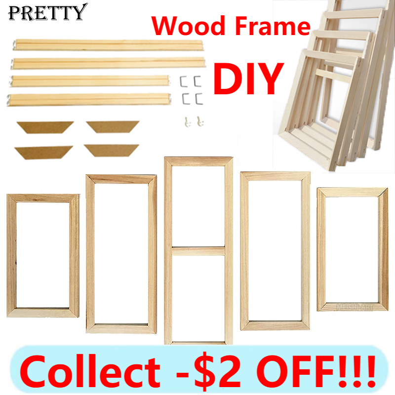 5Pcs Diy Custom Poster Wood Frame Canvas Painting Wall Art Large Size Photo Framed Living Room Home Decor Pictures Frames
