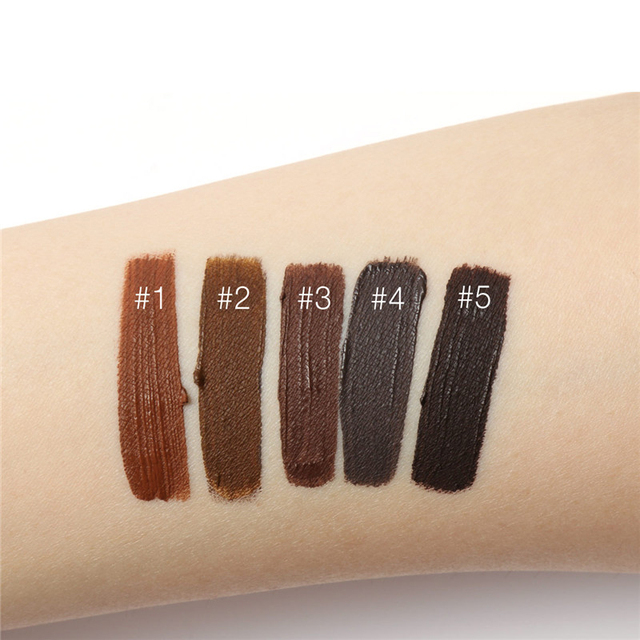 Professional Eyebrow Waterproof High Brow 5 Color Eye Makeup Tool Kit Pigment Black Brown Henna Gel With Brow Brush FOCALLURE 3