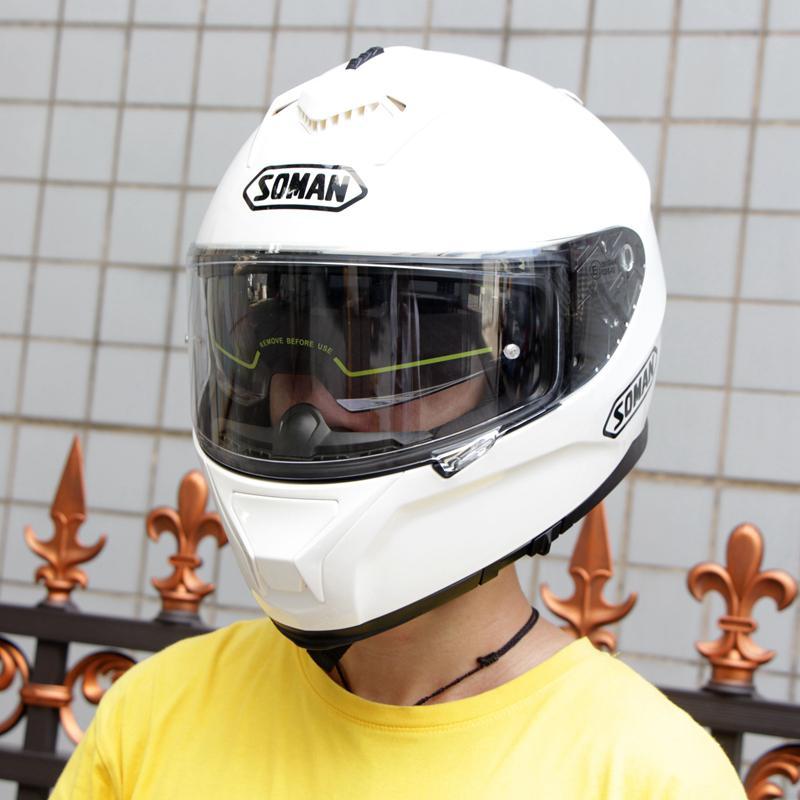 Casque moto rcycle course casque équitation hommes et femmes casque moto cross Double lentilles compatibles avec lunettes casco moto - 3