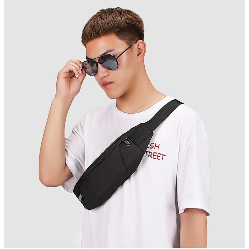 New Men's Waist Belt Bag Chest Waist Bag Fanny Pack Sports Banana Pockets Mobile Phone Waterproof Casual Messenger Bag Purse C56