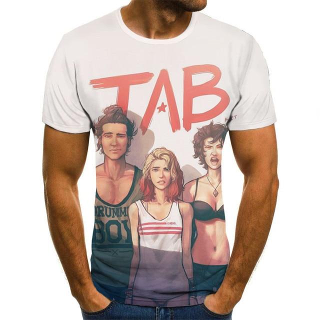 New Style Clown Short-sleeved T-shirt 3d Printing Hip-hop Fashion Men/women Summer Street T-shirt Casual Wear Xxs-6xl 2