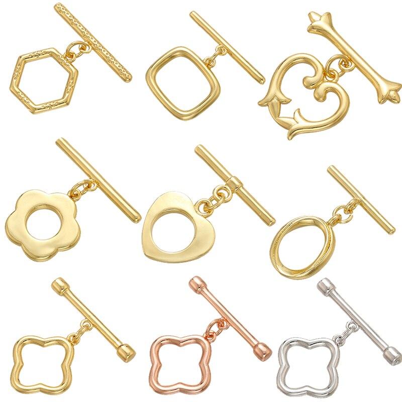ZHUKOU ovale/cuore ottone OT fermagli ganci per donna collana fatta a mano bracciale accessori gioielli fare risultati modello: VK100