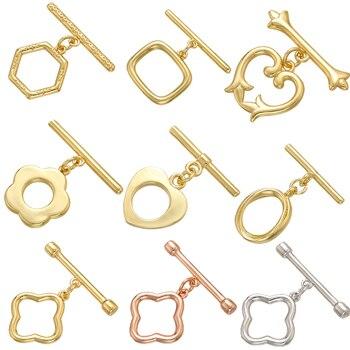 ZHUKOU Oval/heart Brass OT Clasps Hooks for Women Handmade Necklace Bracelet Jewelry Accessories making findings Model: VK100 - discount item  40% OFF Jewelry Making