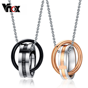 Vnox Endless love couple neckl