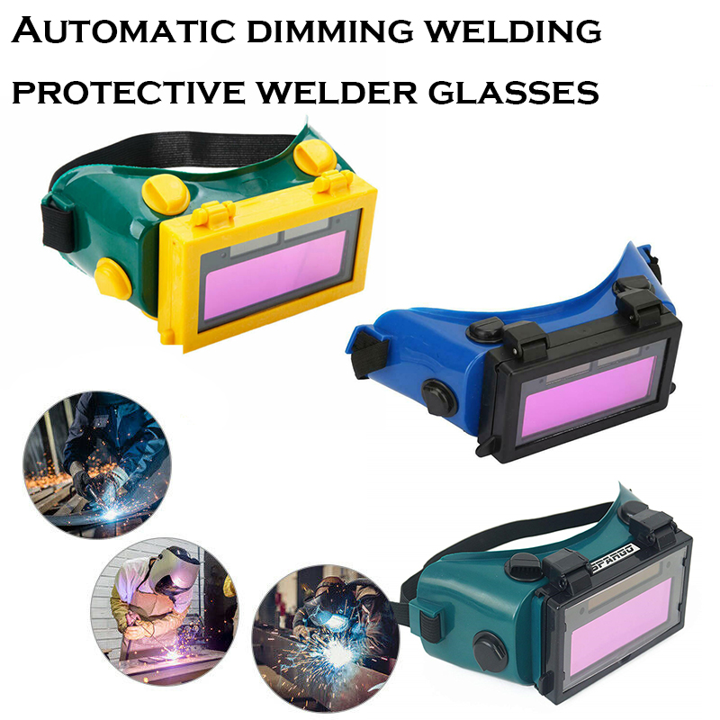 2020 Newest Auto Darkening Welder Welding Eyes Goggles Glasses Helmet Mask Eyeshade / Patch / Eyes Workplace Safety Goggles
